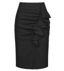 Черная юбка с оборкой RINASCIMENTO 91037