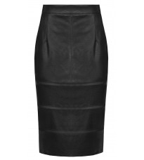 Черная кожаная юбка RINASCIMENTO 91065