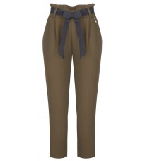 Коричневые прямые брюки с поясом RINASCIMENTO 91379