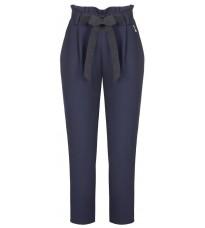 Синие прямые брюки с поясом RINASCIMENTO 91379