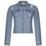 Джинсовая куртка с потертостями RINASCIMENTO 90233
