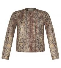 Бежевая куртка с принтом RINASCIMENTO 91043