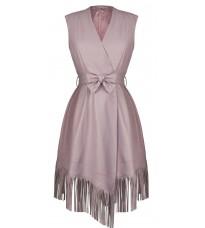 Сиреневое платье с бахромой RINASCIMENTO 91058
