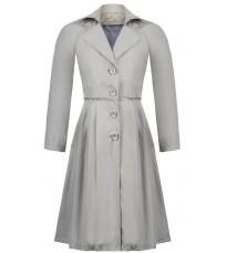 Светлое пальто с голубой подкладкой RINASCIMENTO 91334