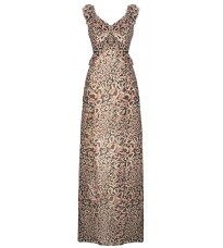 Бежевое платье с принтом RINASCIMENTO 91195