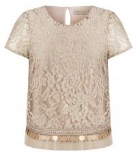 Бежевая кружевная блуза RINASCIMENTO 92067