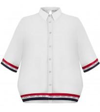 Белая блуза с контрастными вставками RINASCIMENTO 92210