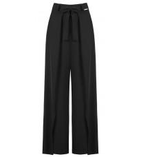 Черные прямые брюки с разрезами RINASCIMENTO 91226