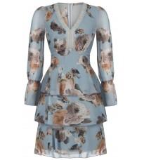 Голубое платье с принтом RINASCIMENTO 91328