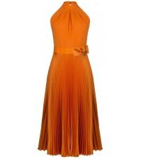 Оранжевое плиссированное платье RINASCIMENTO 91557