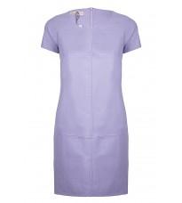 Сиреневое кожаное платье  RINASCIMENTO 91796