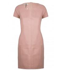 Розовое кожаное платье  RINASCIMENTO 91796