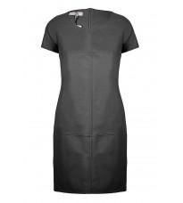 Черное кожаное платье  RINASCIMENTO 91796