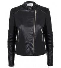 Черная кожаная куртка RINASCIMENTO 91402