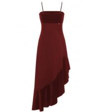 Бордовое асимметричное платье RINASCIMENTO 84226