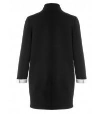 Черное пальто прямого кроя RINASCIMENTO 76123