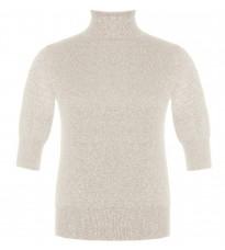 Белый пуловер с люрексом RINASCIMENTO 8331