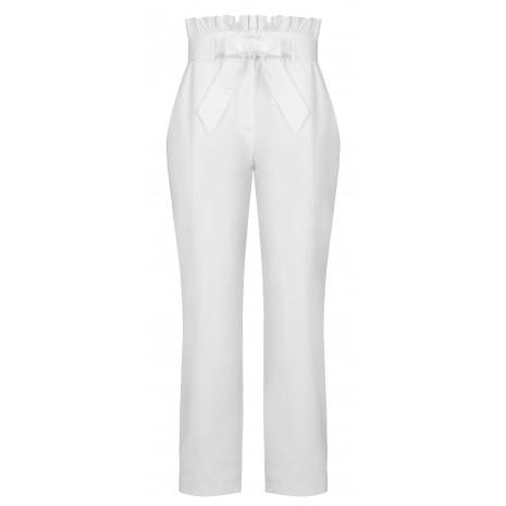 Белые брюки с поясом RINASCIMENTO 15853
