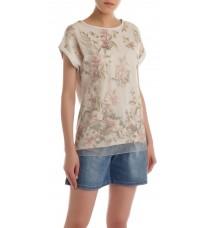 Бежевая блуза с вышивкой RINASCIMENTO 85966
