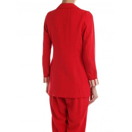 Красный прямой пиджак RINASCIMENTO 86216