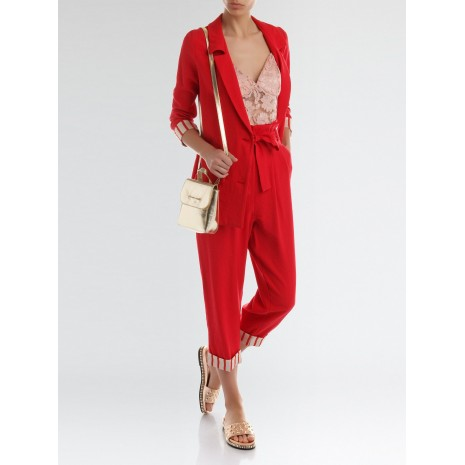 Красные брюки с поясом RINASCIMENTO 86217