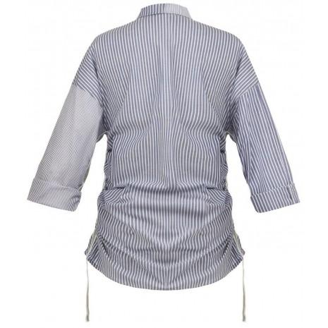 Рубашка в полоску с вставками по бокам и на рукавах RINASCIMENTO 86457