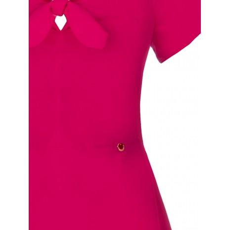 Длинное платье с оборками на плечах RINASCIMENTO 86613