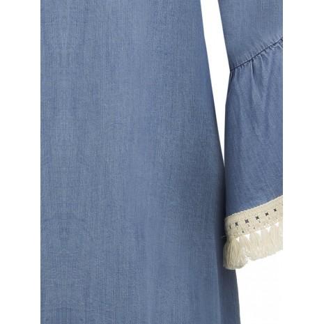Синее платье с кисточками RINASCIMENTO 86699