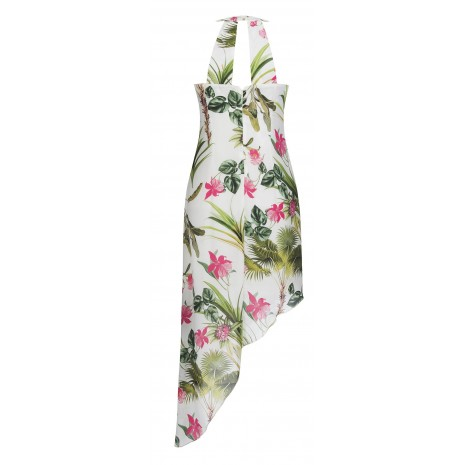 Стильное белое платье с принтом RINASCIMENTO 86827