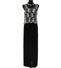Платье в пол с плиссированной юбкой RINASCIMENTO 73213