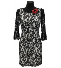 Кружевное платье с красным цветком RINASCIMENTO 73074