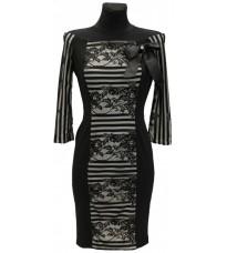 Платье с открытыми плечами и яркими узорами RINASCIMENTO 73204
