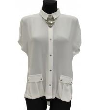 Белая рубашка с открытой спиной RINASCIMENTO 74117