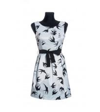 Стильное женское платье с принтом Ласточки RINASCIMENTO 69928