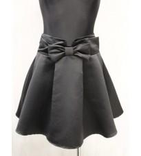 Короткая черная юбка Rinascimento с большим бантиком