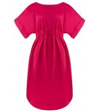 Платье цвета фуксии с вырезом на спине  RINASCIMENTO 81019