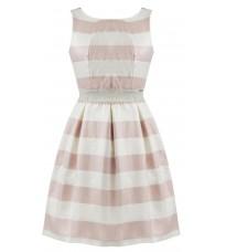 Платье в полоску с вырезом на спине  RINASCIMENTO 81093