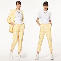 Желтый пиджак в клетку RINASCIMENTO 102980